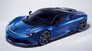 Pininfarina Battista Iconica Sport Car Supercar Blue Car Car 1920x1080 Wallpaper