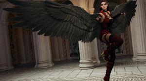 Angel High Heels Wings Woman 1920x1408 Wallpaper