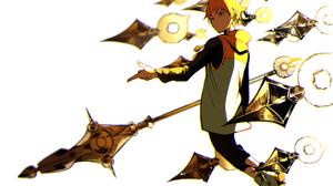 Blonde Hood King The Seven Deadly Sins Spear The Seven Deadly Sins Weapon Yellow Eyes 2630x1894 Wallpaper