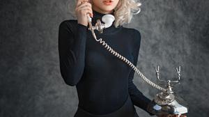 Evgeny Sibiraev Women Bessanova Alexandra Blonde Shoulder Length Hair Wavy Hair Looking Away Blue Ey 1080x1350 Wallpaper