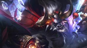 Beast Character Lunar Eclipses Alistar League Of Legends Riot Games 7680x4320 Wallpaper