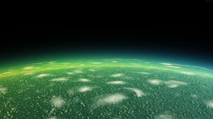 Green Planet Space 7680x4320 Wallpaper