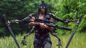 Abrar Khan Women Digital Art Girls With Guns Weapon Rifles Cyborg Girls With Swords ArtStation Artwo 2560x1563 Wallpaper