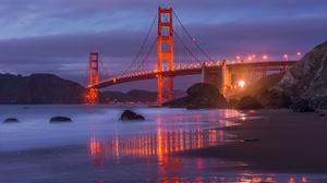 Bridge Golden Gate Night Usa 2000x1275 Wallpaper