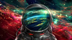 Astronaut Artwork Colorful 1920x1080 Wallpaper