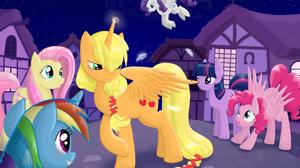 Applejack My Little Pony Fluttershy My Little Pony Pinkie Pie Rainbow Dash Rarity My Little Pony Twi 2116x1540 Wallpaper