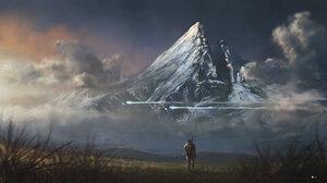 Landscape Master Chief Mountain Sci Fi 1920x1080 wallpaper
