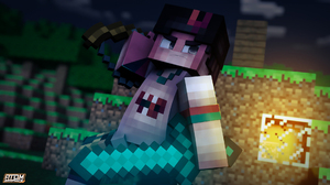 Cinema 4d Minecraft Mojang 1920x1080 wallpaper