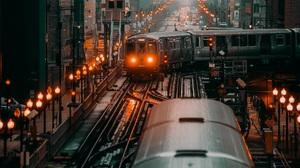 Chicago Train City Railway Portrait 1920x2400 Wallpaper