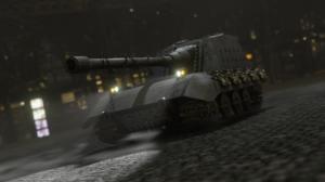 Tank Tank Destroyer Jagdpanzer E 100 Lights Vehicle Military Chains Steel 3D CGi 3840x2160 Wallpaper