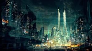 Cyberpunk Cityscape 3800x2138 Wallpaper