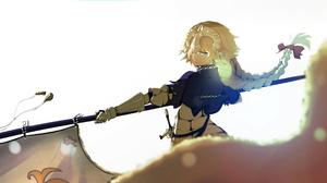 Jeanne D 039 Arc Fate Series Ruler Fate Apocrypha Banner Long Hair Blonde Woman Warrior 3000x1500 Wallpaper