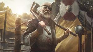Man Viking Warrior Weapon 1920x1088 Wallpaper