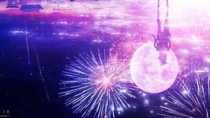 Genshin Impact Yoimiya Genshin Impact Fireworks 4800x2427 Wallpaper