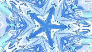 Artistic Digital Art Pattern Blue Star 1920x1080 Wallpaper