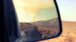 Photography Nature Landscape Rearview Mirror Mirror Road 2048x1365 wallpaper