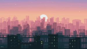 Sunset City 1920x1080 wallpaper