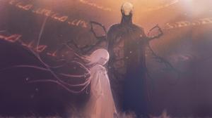 Digital Art Fantasy Art Artwork Original Characters Anime Girls Devil Slender Horror White Hair Huke 3000x1629 Wallpaper