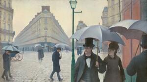 Artwork Painting Umbrella City Vintage 1920x1080 Wallpaper