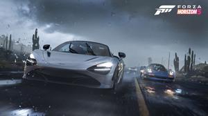 Forza Horizon 5 Supercars Rain Mexico Video Games Racing Car Vehicle Silver Cars Blue Cars 3840x2160 Wallpaper
