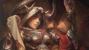 Armor Demon Hunter Diablo Iii Woman Warrior 2536x1903 wallpaper