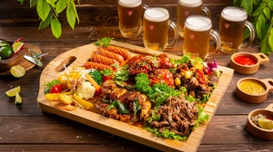 Alcohol Beer Drink Meat Sausage Still Life 2048x1365 Wallpaper