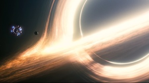 Interstellar Movie Space Black Holes Galaxy Spaceship Stars Planet Andromeda Milky Way 4079x2160 Wallpaper