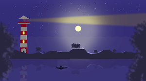 Landscape Lighthouse Moon Night 3840x2160 Wallpaper