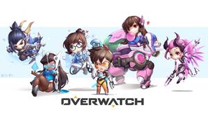 D Va Overwatch Hanzo Overwatch Mei Overwatch Mercy Overwatch Overwatch Symmetra Overwatch Tracer Ove 6695x3653 Wallpaper