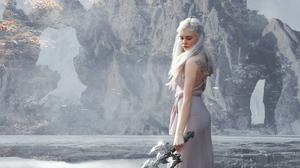 Cosplay Daenerys Targaryen Girl White Dress White Hair Woman 4532x2549 wallpaper