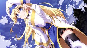 Blonde Blue Eyes Girl Goblin Slayer Long Hair Priestess Goblin Slayer 5924x4093 Wallpaper