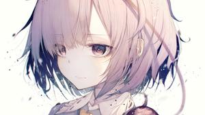 Anime Hito Komoru Anime Girls Face Simple Background White Background 3696x4367 Wallpaper