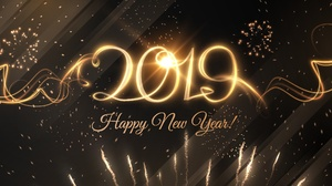 Fireworks Happy New Year New Year 2019 2500x1771 Wallpaper
