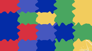 Abstract Blue Colorful Digital Art Geometry Green Red Shapes Yellow 1920x1080 Wallpaper