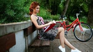 Dress Girl Model Mood Redhead Woman 1920x1282 wallpaper