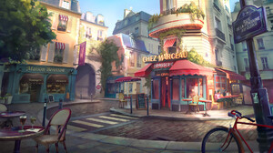 Bike Cafe France Paris 1920x1080 Wallpaper