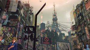Scarlet Nexus Anime Anime Games Video Games Anime City City Screen Shot Futuristic City Japan 1920x1080 Wallpaper