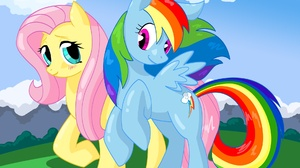 Fluttershy My Little Pony Rainbow Dash 1904x1553 Wallpaper