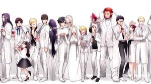 Fate Series Fate Zero Irisviel Von Einzbern Saber Caster Fate Zero Kiritsugu Emiya Lancer Fate Zero  2200x945 Wallpaper