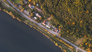 Europe Forest Trees Water Street Landscape River Drone Aerial Germany Aerial View House 3826x2549 Wallpaper