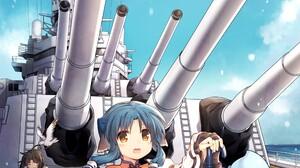Anime Anime Girls Utawarerumono Haku Utawarerumono Animal Ears Short Hair Blue Hair Black Hair Ship  2480x3507 Wallpaper