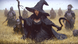 Armor Field Girl Necromancer Undead Witch Witch Hat Woman 1920x1080 Wallpaper