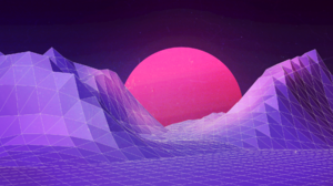 Landscape Synthwave Vector 1920x1080 wallpaper
