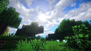 Minecraft Mojang Video Game Forest Grass Sky 1920x1080 Wallpaper