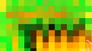 Abstract Colorful Digital Art Geometry Green Shapes Orange Color 1920x1080 Wallpaper