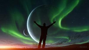 Sci Fi Planet Man 1920x1080 Wallpaper