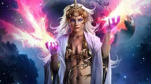 Fantasy Women Warrior 1440x1080 wallpaper