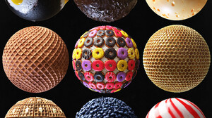 Julio Sillet ArtStation Food Sphere Texture Digital Art 3840x4037 Wallpaper