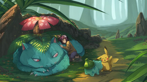 Bulbasaur Pokemon Pikachu Venusaur Pokemon 1920x1265 Wallpaper
