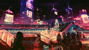 Cyberpunk Cyberpunk Cityscape Futuristic Futuristic City 3840x2160 Wallpaper